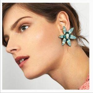NWT Baublebar Starflower Drop Statement Earrings